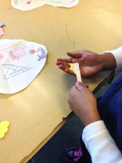 gluing butterflie shapes