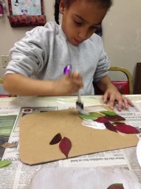 gluing leafs