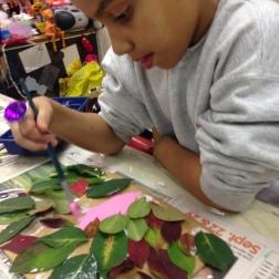 aranging leafs