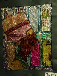 Faux stain glass